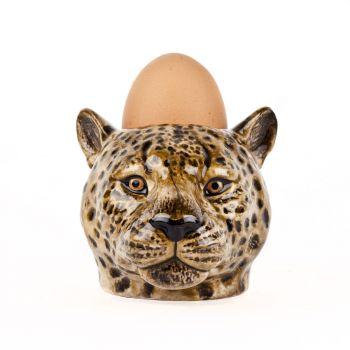 Leopard Face Egg Cup Quail Ceramics