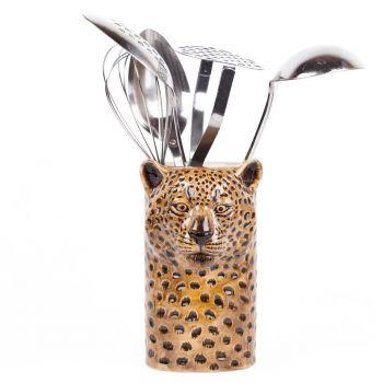 Leopard Utensil Pot Quail Ceramics