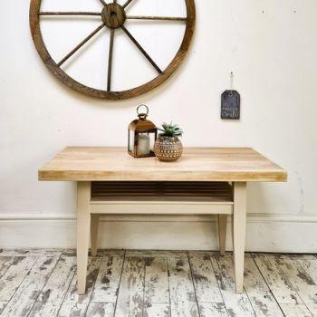 Handmade Limed Oak Coffee Table