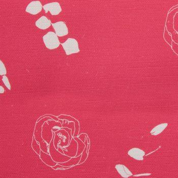 Eucalyptus Floral Leaf Designer Fabric in Cherry Red