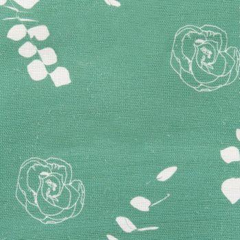 Eucalyptus Floral Leaf Designer Fabric in Apple Green
