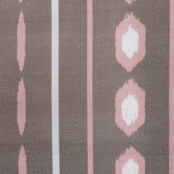 'Ikat' Geometric Stripes Designer Fabric in Fallow & Pink