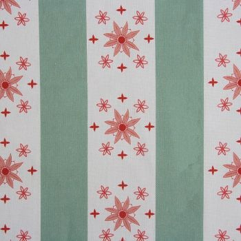 'Arista' Summer Stripe Designer Fabric in Duck Egg