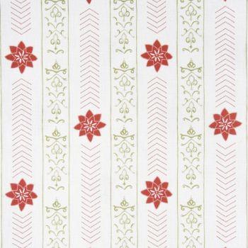 'Valencia' Floral Leaf Designer Fabric in Raspberry & Fern