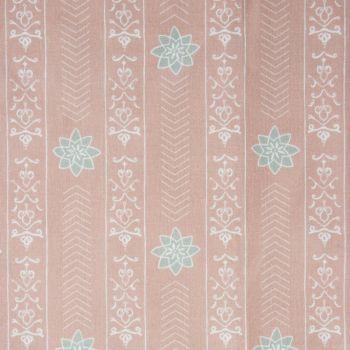 'Valencia' Floral Leaf Designer Fabric in Sandy Pink