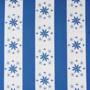 'Arista' Summer Stripe Designer Fabric in Lapis Blue