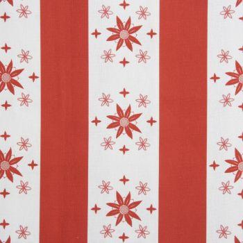 'Arista' Summer Stripe Designer Fabric in Raspberry