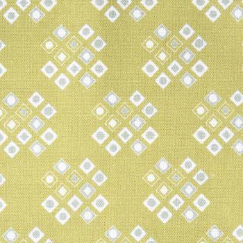 'Pilgrim' Diamond Pattern Designer Fabric in Lime Green