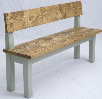 Backed Bench Farmhouse Kitchen Table