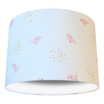 Little Bird Pink Nursery Lampshade