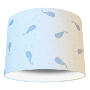 Little Whale Blue Nursery Lampshade