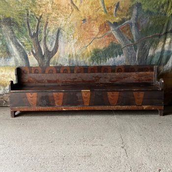 Small Antique Style Box Settle