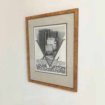Original 1930s Louis Vuitton Vintage Framed Poster Advert
