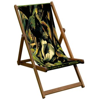 Vintage Style Deckchair with Kew Orchid Design Sling