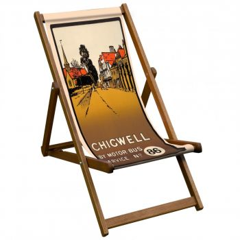 Vintage Style Deckchair with Chigwell Design Sling
