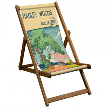 Vintage Style Deckchair with Hadley Woods Design Sling