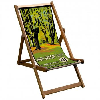 Vintage Style Deckchair with High Beech Design Sling