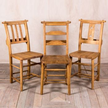 Solid Oak Chapel Chair Range