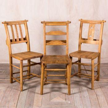 Solid Oak Chapel Chair Range