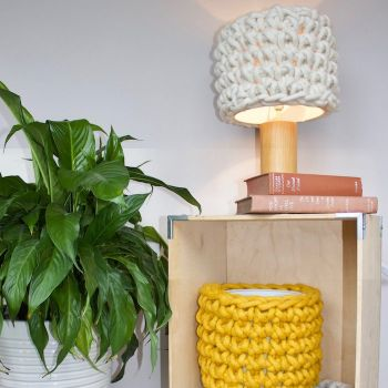 Felted Wool Woven Lampshades