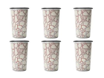 The Zephyr Set of 6 Handmade Striped Tumblers