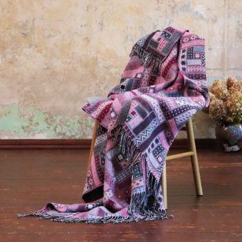 Purple Merino Wool Throw