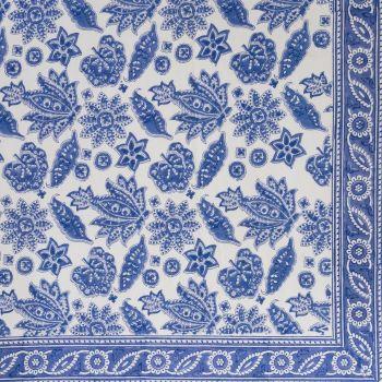 Blue Tablecloth Block Print Mews Furnishings