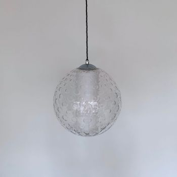 MID CENTURY CZECH BUBBLED GLASS SHADE
