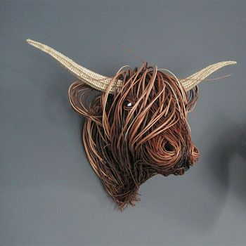 Willow Moose Sculpture