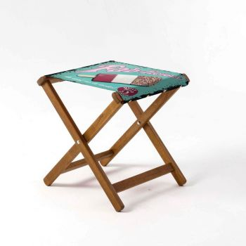 Outdoor Teak Stool with Martin Wiscombe 'Fab-Licious Design