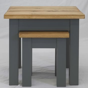 Pair of 2 Oak Farmhouse Style Side Tables
