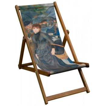 Vintage Style Deckchair with National Gallery 'Umbrellas' Design Sling