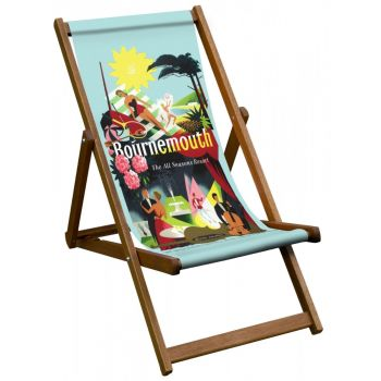 Vintage Style Deckchair with Bournemouth Design Sling