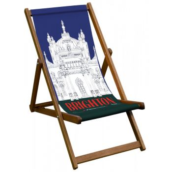 Vintage Style Deckchair with Brighton Design Sling