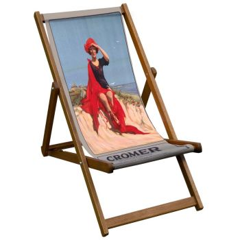 Vintage Style Deckchair with Cromer Design Sling