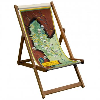 Vintage Style Deckchair with Derbyshire Peak District Design Sling