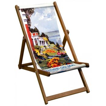 Vintage Style Deckchair with Southend-On-Sea Design Sling