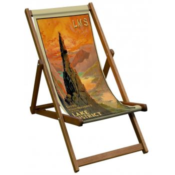 Vintage Style Deckchair with Lake District Design Sling