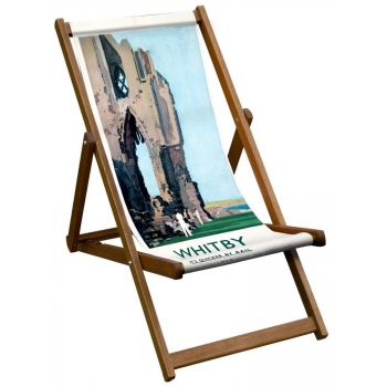 Vintage Style Deckchair with Whitby Design Sling