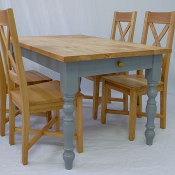 Classic Farmhouse Kitchen Table in a choice of Oak, Elm, Sycamore, Ash or Beech