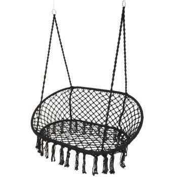 Black Double Hanging Garden Seat