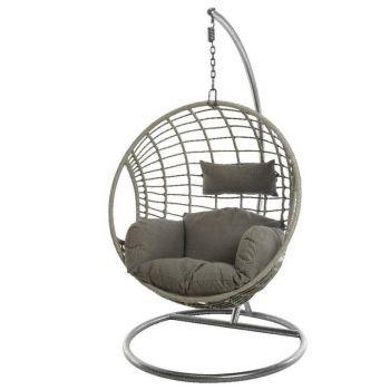 Grey Indoor Outdoor Hanging Egg Chair
