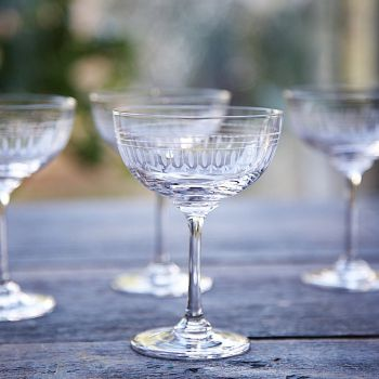 Set of 6 'Ovals' Champagne Glasses
