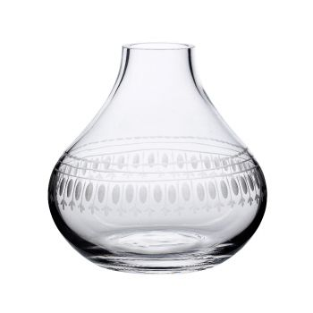 The Vintage List Oval Crystal Vase