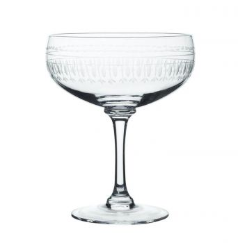 Set of four Cocktail Glasses with Ovals design