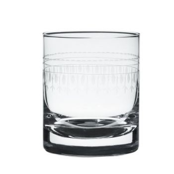 A Pair of Whiskey Glasses with 'Oval' Design