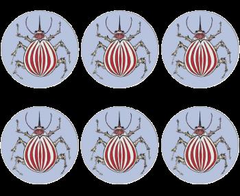 Ladybird Design Set of 6 Placemats