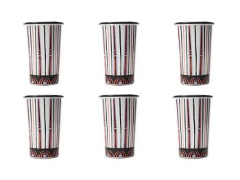 The Mix Beetle Set of 6 Handmade Tumblers Bell Hutley