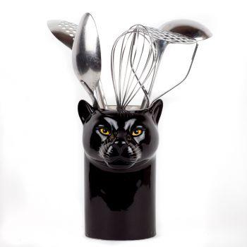 Panther Utensil Pot Quail Ceramics