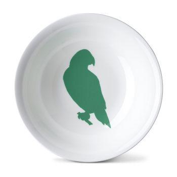 Green Parakeet China Pasta Salad Bowl